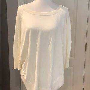 Express Cream 3/4 Sleeve Sweater Sz Small NWT